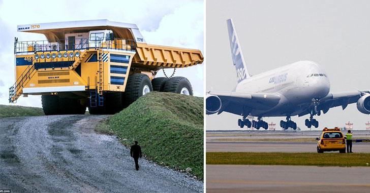 1300 l 100 km il pourrait lui seul transporter un a380 c 39 est le plus grand camion du monde. Black Bedroom Furniture Sets. Home Design Ideas
