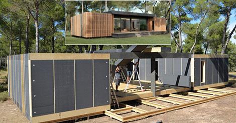 une maison de 150 m pour moins de 38 000 et construite en 4 jours. Black Bedroom Furniture Sets. Home Design Ideas