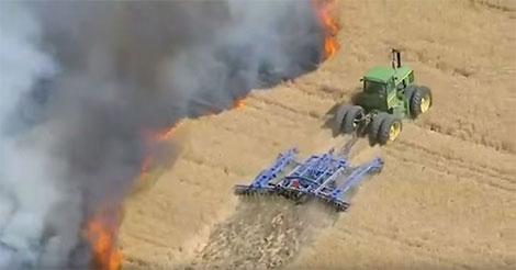 agriculteur-flammes